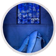 Weeping Angel Round Beach Towel