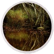 Weeping Branch Round Beach Towel