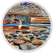 Weighed In Stone Round Beach Towel