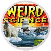 Weird Science Round Beach Towel