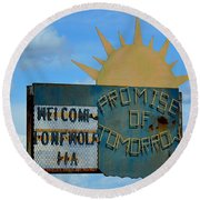 Hometown Welcome Round Beach Towel
