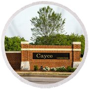 Welcome To Cayce Round Beach Towel by Charles Hite