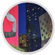 Welcome To New York Round Beach Towel by Jeffrey Friedkin
