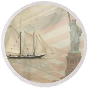 Welcome To Nyc Round Beach Towel