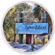 Welcome To Tybee Round Beach Towel