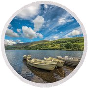 Welsh Boats Round Beach Towel