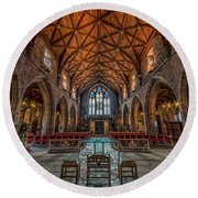 Welsh Cathedral  Round Beach Towel