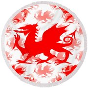 Welsh Dragon Round Beach Towel