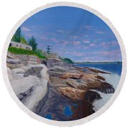 Weske Cottage Round Beach Towel