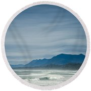 West Coast Exposure  Round Beach Towel