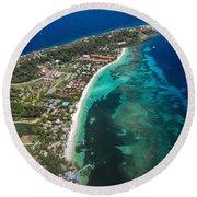 West End Roatan Honduras Round Beach Towel