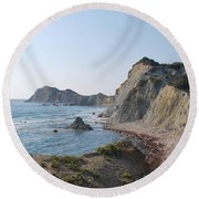 West Erikousa 1 Round Beach Towel by George Katechis