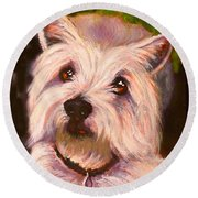West Highland Terrier Reporting For Duty Round Beach Towel