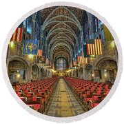West Point Cadet Chapel Round Beach Towel
