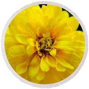 West Virginia Marigold Round Beach Towel
