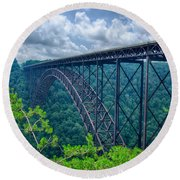 West Virginia New River Gorge Bridge Carrying Us 19 Over The G Round Beach Towel