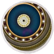 West Virginia State Capital Dome Hdr Round Beach Towel