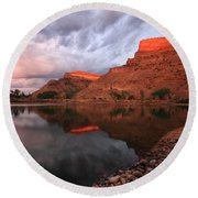 Round Beach Towel featuring the photograph Western Colorado by Ronda Kimbrow