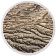 Round Beach Towel featuring the photograph Western Desert Tapestry by Gary Slawsky