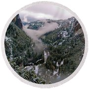 Western Yosemite Valley Round Beach Towel