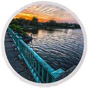 Westhampton-quogue Bridge Round Beach Towel