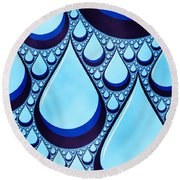 wet Round Beach Towel