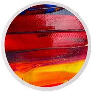 Wet Paint 123 Round Beach Towel