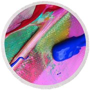 Wet Paint 31 Round Beach Towel