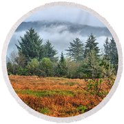 Wetlands In The Fall Round Beach Towel