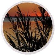 Whalehead Sunset Obx II Round Beach Towel
