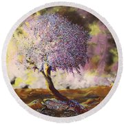 What Dreams May Come Spirit Tree Round Beach Towel