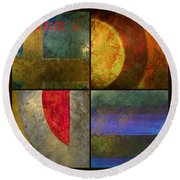 What Is Love Round Beach Towel