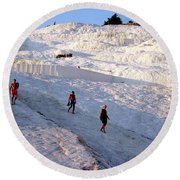 Round Beach Towel featuring the photograph What Is Wrong In This Picture by Zafer Gurel