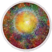 What Kind Of Sun Viii Round Beach Towel by Carol Jacobs