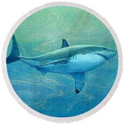 What Lurks Below Round Beach Towel