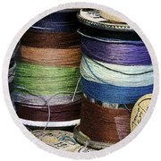 Spools Of Thread Round Beach Towel