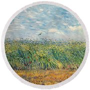Wheatfield With Lark Round Beach Towel