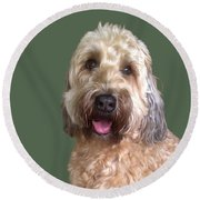 Wheaton Terrier Round Beach Towel