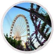 Wheel Of Brisbane Round Beach Towel