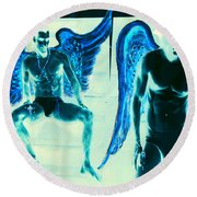When Heaven And Earth Collide Series Round Beach Towel