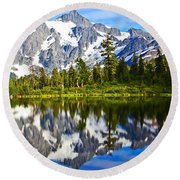 Round Beach Towel featuring the photograph Where Is Up And Where Is Down by Eti Reid