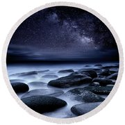 Where No One Has Gone Before Round Beach Towel