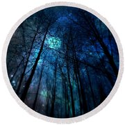Where The Faeries Meet Round Beach Towel by Micki Findlay