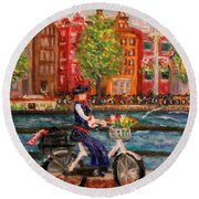 Where To ... Amsterdam Round Beach Towel