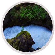 Round Beach Towel featuring the photograph Which Way by David Andersen