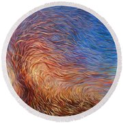Whirl Tree Round Beach Towel
