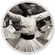 Whirling Dervishes Round Beach Towel
