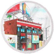 Whisky-a-go-go In West Hollywood - California Round Beach Towel by Carlos G Groppa