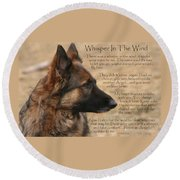 Whisper In The Wind Round Beach Towel