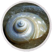Whispering Tides Round Beach Towel